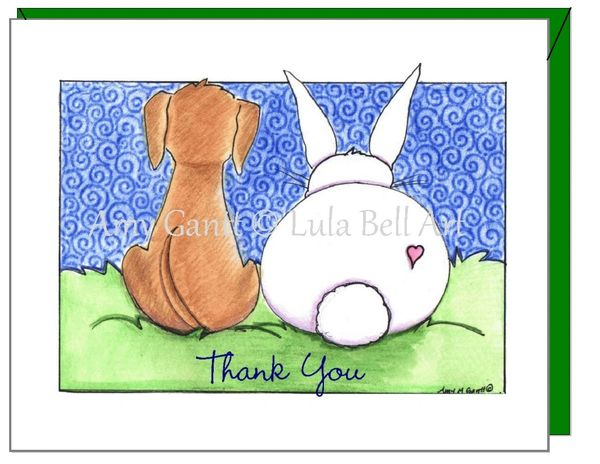 Thank you - Puppy Love Greeting Card