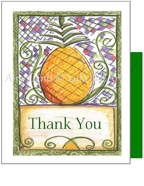 Thank you -Pineapple Greeting Card