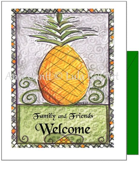 New Home - Pineapple Greeting Card