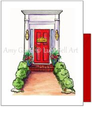 New Home- Red Door Greeting Card