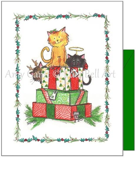 Christmas - Kitty Special Delivery Card