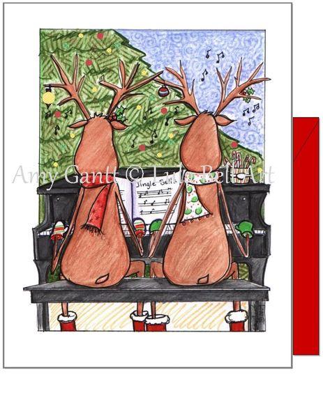 Christmas - Reindeer Harmony Christmas Card