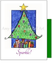 Christmas - Sparkle Christmas Tree Greeting Card