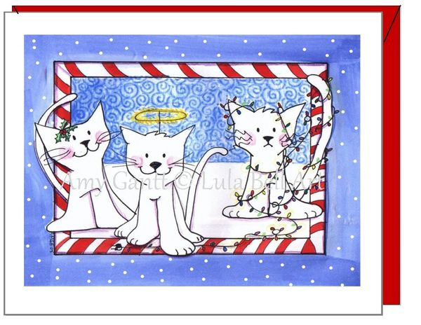 Holiday - Deck the Cats Card