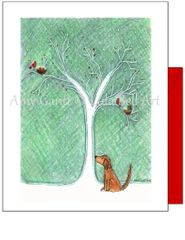 Holiday - Wishes from afar with dog Card