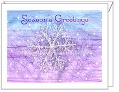 Holiday - Winter Snowflake Holiday Card