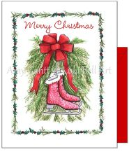 Christmas - Ice Skates Greeting Card