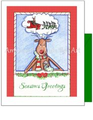 Christmas - Reindeer Dreams Greeting Card