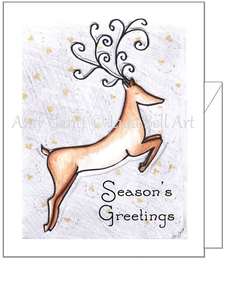 Christmas - Winter Reindeer Greeting Card