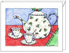 Christmas - Christmas Tea Greeting Card