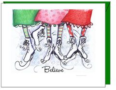 Holiday - Believe Skates Greeting Card