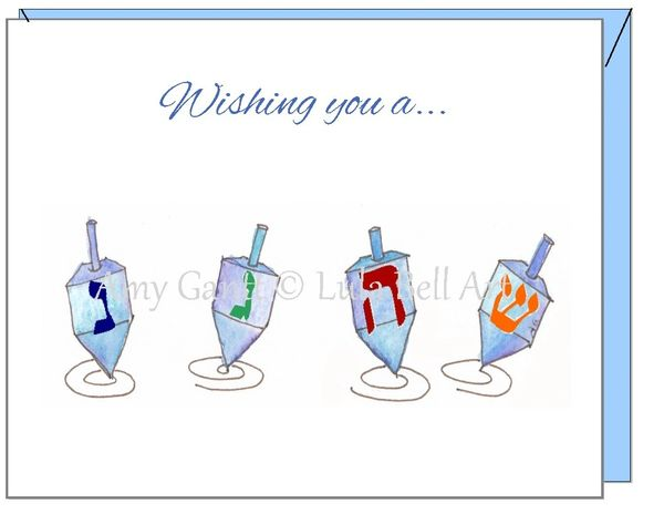 Hanukkah - Dreidels Greeting Card