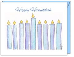 Hanukkah - Hanukkah Candles Greeting Card