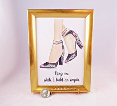 5 x 7 Framed Print - Excuse me while I build an Empire