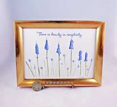 5 x 7 Framed Lavender Art Print - There is beauty in simplicity