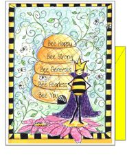 Queen Bee of the Garden Boxed Note Cards