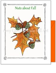 Fall - Fall Nuts Greeting Card