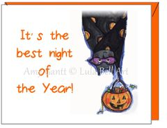 Halloween - Bats Greeting Card