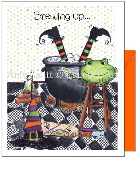 Halloween - Tricky Frog Greeting Card