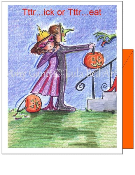 Halloween - Who Lives Here? Greeting Card