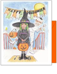 Halloween - Witch Halloween Greeting Card