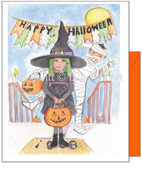 Halloween - Witch Halloween Greeting Card