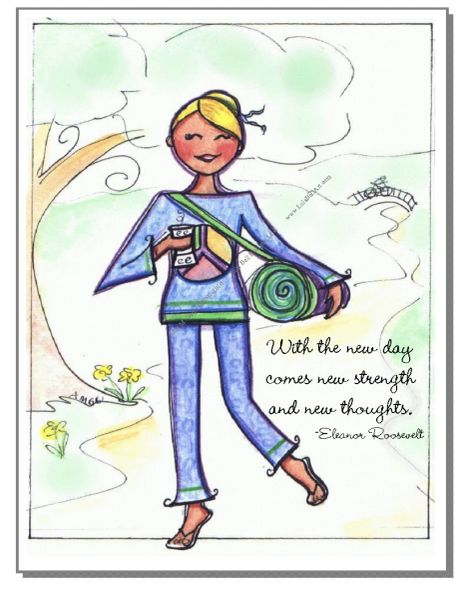 Yoga Girl Boxed Note Cards