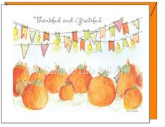 Thanksgiving - Pumpkin Patch Greeting Card