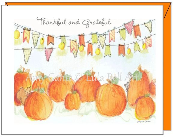 Thanksgiving - Pumpkin Patch Greeting Card