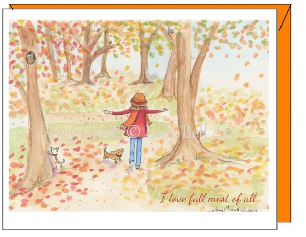Fall - I Love Fall the Best of All Greeting Card