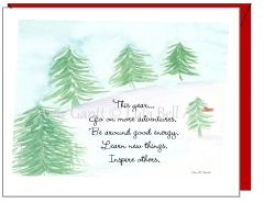 Holiday - Pine Trees on the Hill Greeting Card