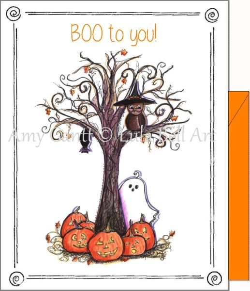 Halloween - Boo to You Greeting Card
