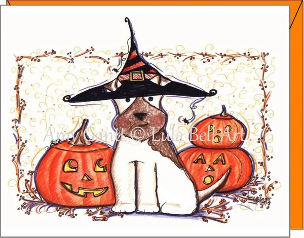 Halloween - Dog Howl-O-Ween Greeting Card