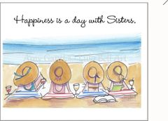 """Happiness is a day with Sisters"" Boxed Note Cards"