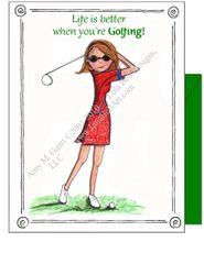 Swing ~ Life is better when you're Golfing! Boxed Note Cards