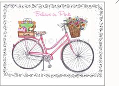 Bike - Believe in Pink Boxed Note Cards