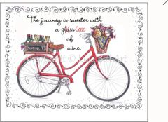 Bike - Red with Wine Boxed Note Cards