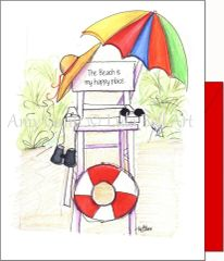 Lifeguard Chair Note Cards