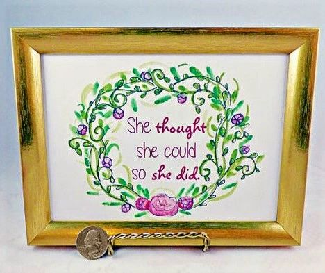 5 x 7 Framed Art Print - She thought she could so she did