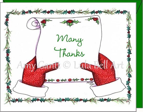 Thank You - Santa's List Many Thanks