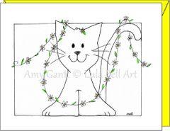 Thinking of You - Princess Cat Greeting Card
