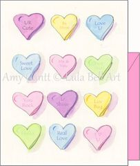 Valentine - Lots of hearts for you Greeting Card