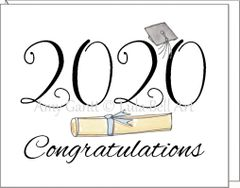 Graduation - Diploma & Cap Greeting Card