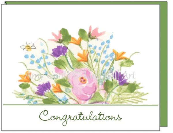 Congratulations / Retirement - Live Life in Full Bloom Greeting Card