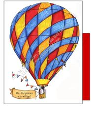 Hot Air Balloon Carnival Boxed Note Cards