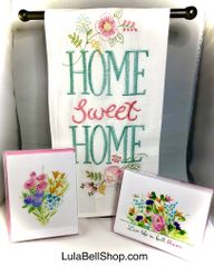 2 Boxed Spring Cards & 1 FREE Home Sweet Home Towel