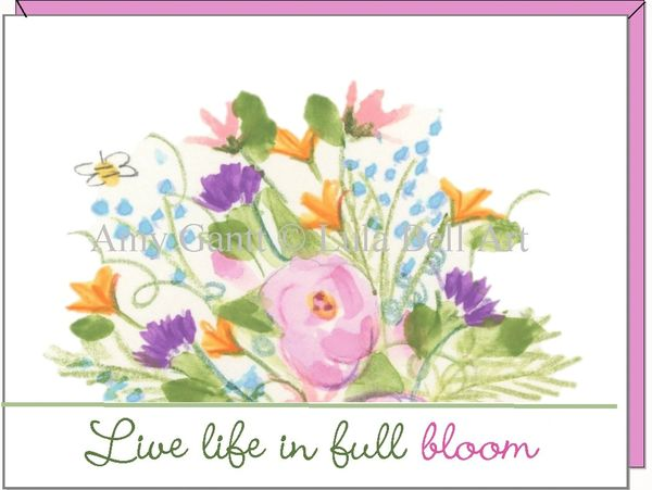 Live life in full bloom Boxed Note Cards