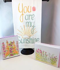 2 Boxed Spring Cards & 1 FREE You are my Sunshine Towel