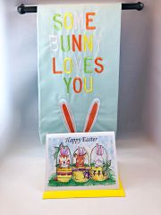 Some Bunny Loves You Bunny Towel with FREE Greeting Card