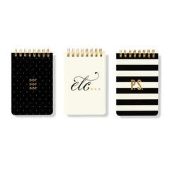 kate spade new york Mini Spiral Set Of 3 notebooks, etc.